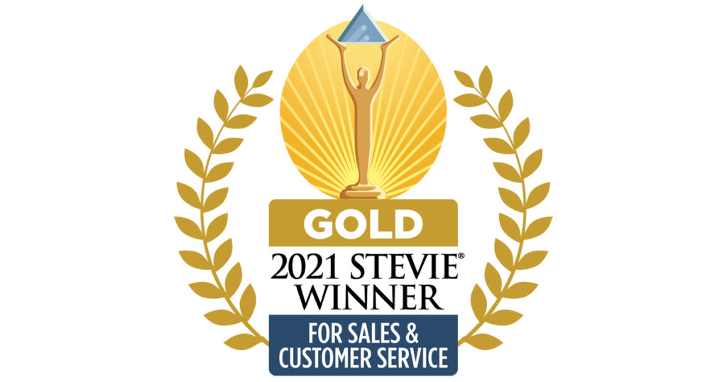 Intoo wins the Gold at the 2021 Stevie Awards for Sales & Customer Service